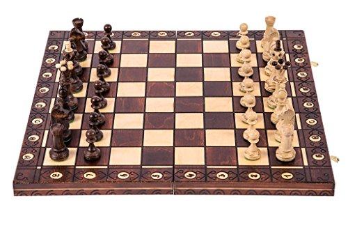 Square - Schach Schachspiel - Senator LUX - 41 x 41 cm - Schachfiguren & Schachbrett aus Holz