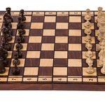 Square - Schach Schachspiel - Jupiter - 40 x 40 cm - Schachfiguren & Schachbrett aus Holz