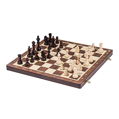 Square - Pro Schach Nr 4 NUSS - Schachspiel aus Holz - Schachbrett & Staunton 4